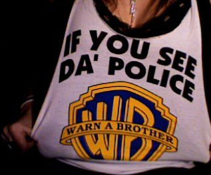 funny, police, and shirt image