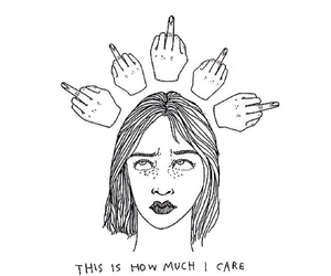 care, tumblr, and i don't care image