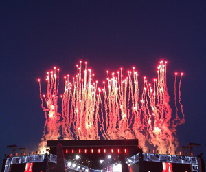 fireworks, concert, and one direction image