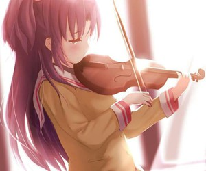 clannad, anime, and violin image