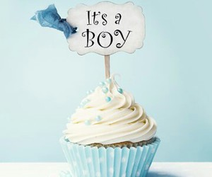 blue, cupcake, and boy image