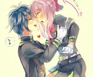 owari no seraph, anime, and blush image