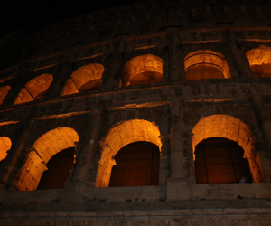 Coliseum, italy, and night image