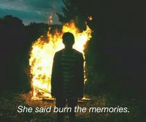 grunge, fire, and memories image