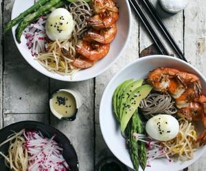 bowl, egg, and food image