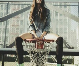 girl, Basketball, and cool image