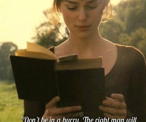 jane austen, love, and book image