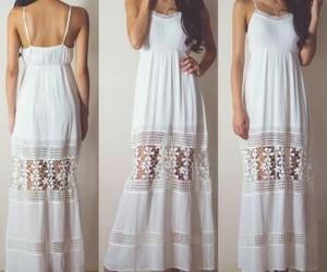 summer, summer wear, and white dress image