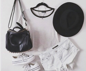 outfit, stripes, and tumblr image