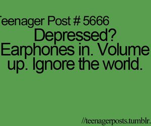 music, depressed, and teenager post image