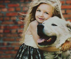 dog, girl, and sweet image