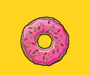 background, donut, and homer image