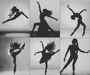 black and white, dance, and life image