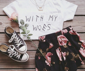 fashion, floral, and woes image