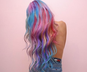 colors, girl, and hair painted image