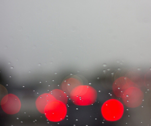 car, red, and rain image
