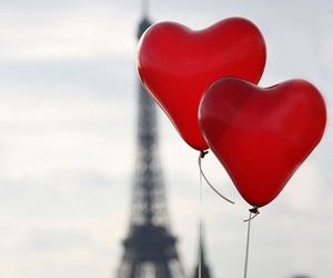 love, paris, and red image