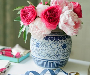 pink and peonies image