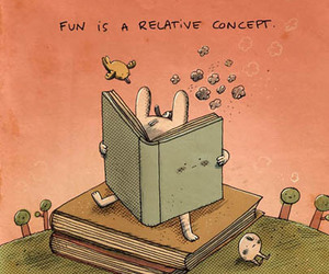 book, fun, and reading image