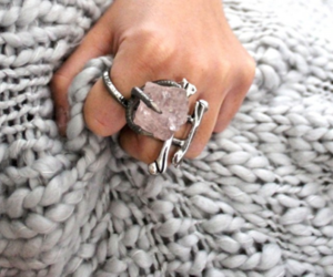 ring, pretty, and silver image
