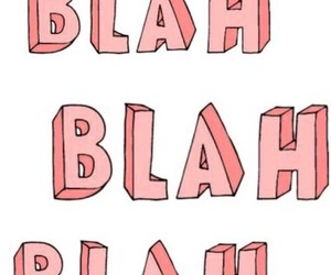 blah, pink, and blah blah blah image