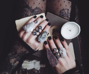 rings, tattoo, and witch image
