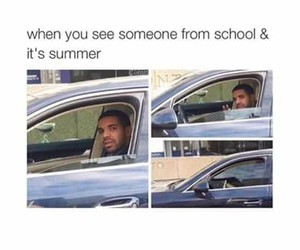 funny, summer, and school image