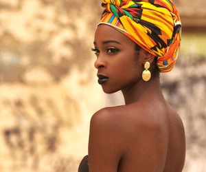 beautiful, black woman, and face image