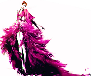 fashion, drawing, and pink image