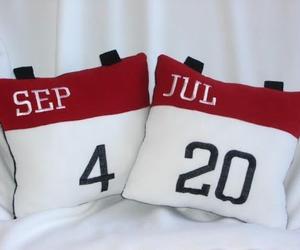 calendar, date, and pillow image