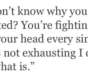 exhaustion, fight, and keep fighting image