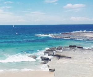 blue, beach, and beautiful image