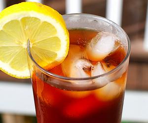drink, lemon, and tea image