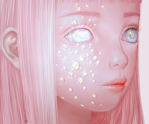 saccstry, pink, and art image