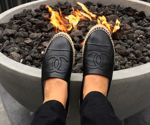 black, chanel, and fire image