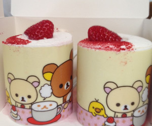 kawaii, rilakkuma, and strawberry image