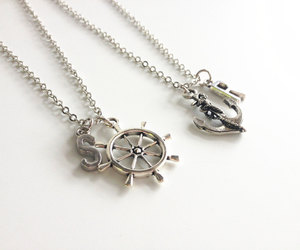 bff, best friends necklace, and nautical necklace image