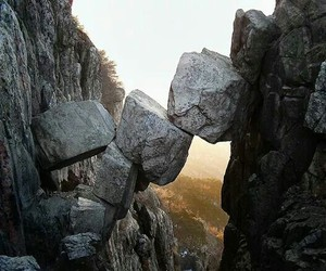 rock, mountains, and nature image