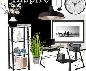 black and white, deco, and decoration image