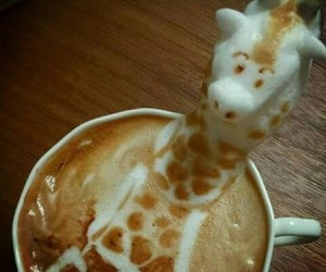coffee, giraffe, and art image
