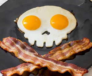 art, bacon, and death image