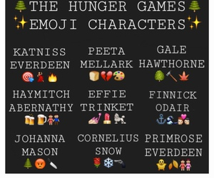 the hunger games and emoji image