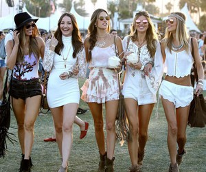 festival, girls, and white image