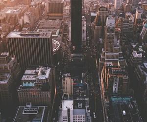 city, new york, and sunrise image