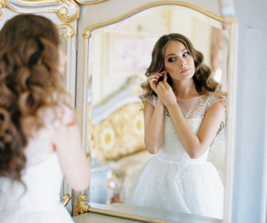 beautiful, bridal, and feminine image