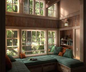 cozy, home, and wood image