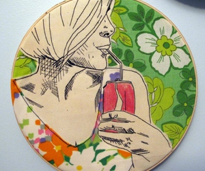 art, embroidery, and girls image