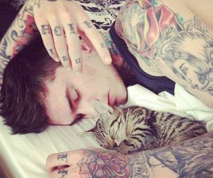tattoo, cat, and boy image