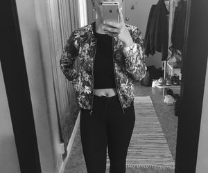 black and white, clothes, and eyebrows image