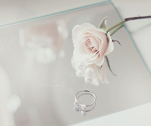 rose, ring, and flowers image